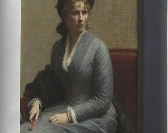 Canvas 16x24; Henri Fantin Latour Portrait Of Mlle C. D, 1882