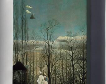 Canvas 16x24; Henri Rousseau A Carnival Evening