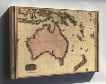 Canvas 16x24; Map Of Australia And New Zealand 1818