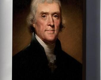 Canvas 16x24; Thomas Jefferson By Rembrandt Peale, 1800