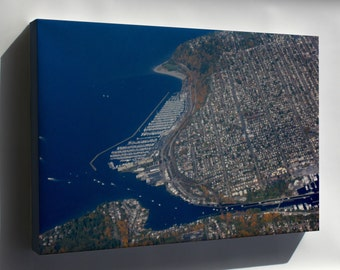 Canvas 16x24; Aerial View Of Ballard, Seattle