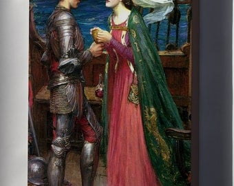 Canvas 16x24; Tristan And Iseult. John William Waterhouse, 1916 King Arthur And Knights Of Camelot