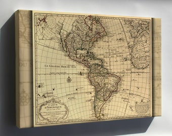 Canvas 16x24; Map Of North & South America; United States  1780
