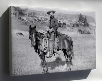 Canvas 16x24; American Cowboy, C. 1888