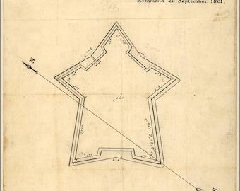 16x24 Poster; Map Gloucester Point Fort Richmond Virginia 1861
