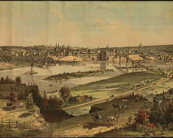 16x24 Poster; View Of St. Paul, Minnesota 1874 Saint Paul