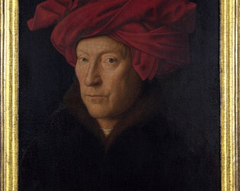 16x24 Poster; Portrait Of A Man In A Turban, Oil Painting By Jan Van Eyck (1433)