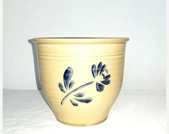 Vintage Pfaltzgraff Folk Art Flower Pot,Pfaltzgraff Folk Art,Pfaltzgraff Stoneware,Folk Art Planter,Pfaltzgraff Planter,Grease Jar,Utensils