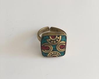 Adjustable, Beautiful boho, ethnic, tribal ring, women ring, bohemian jewelry
