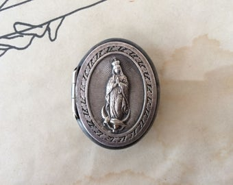 Our lady of Guadalupe metal pill box