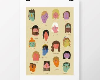 "A2 Giclee Print ""MILK FACES"" By Celeste Potter"