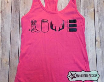 Country Love Tank - Country Tank