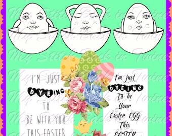 Digital stamp colouring image - EASTER Egg dyeing dress me up & Sediments. jpeg / png