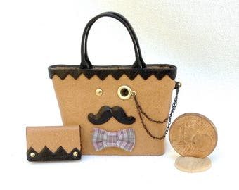 Here is the happy family! He or she, funny handbags on scale 1/12