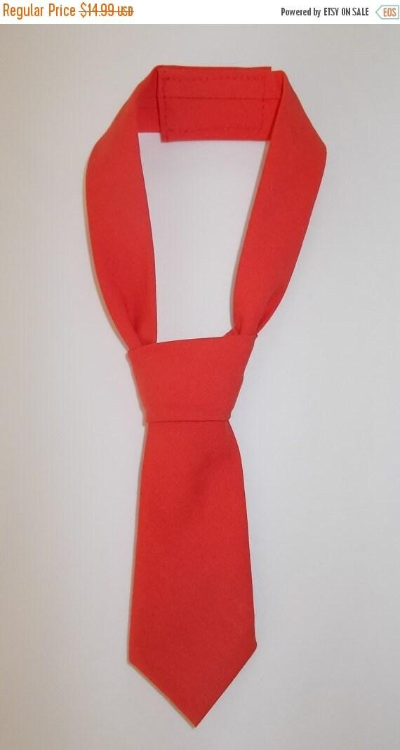 Winter Sale Babies Neck Tie in Orange Coral, Wedding, Formal Wear, Birthday Photo Shoot XS