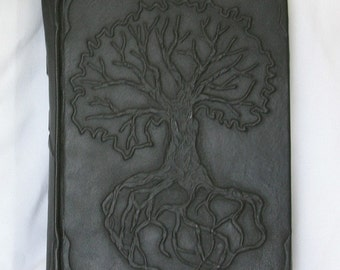 Large handmade leatherbound journal Tree of Life