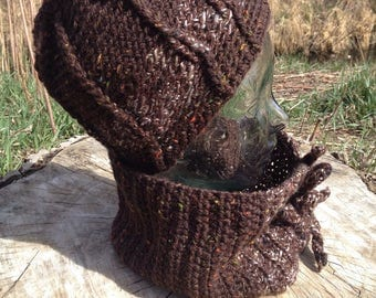Coffee Cowl and Cap