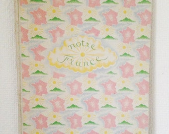 Rare Large French Children's Book 'Notre France' Illustrations by Alexandre Serebriakoff, Text by Alice Piquet, printed 1929