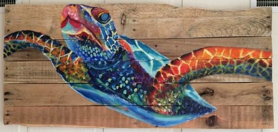 Sea Turtle Pallet Painting