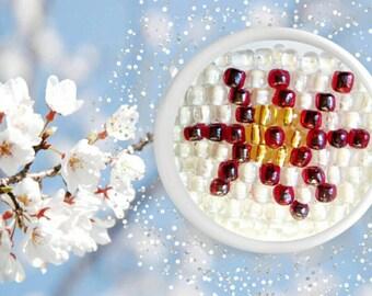 Red white beaded bracelet beadwork bracelet, white beaded bracelet handmade seed beads bracelet handmade red white exclusive beaded bracelet