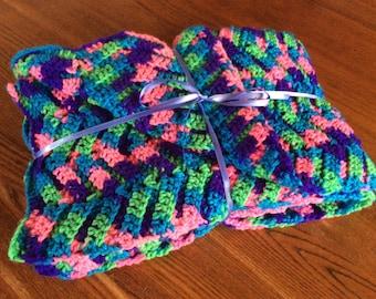 Crochet Baby/Toddler Lap Blanket/Travel Blanket/Snuggle Blanket