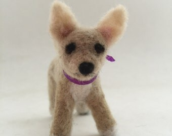 Needle-Felted Chihuahua Dog Sculpture