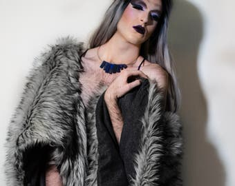 Faux Fur Shrug- GIANT, Custom Colors, Fleece/Satin Lined, Faux Fur Stole, Faux Fur Vest, Faux Fur Coat