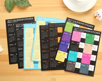 2017 Planner Calendar Index Sticker