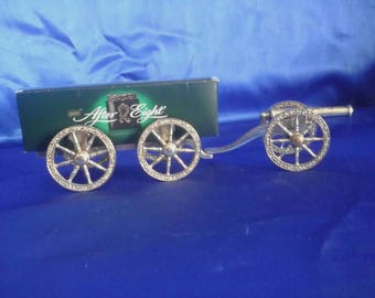 Vintage After Eights Mints Silver Plated Carrage & Cannon