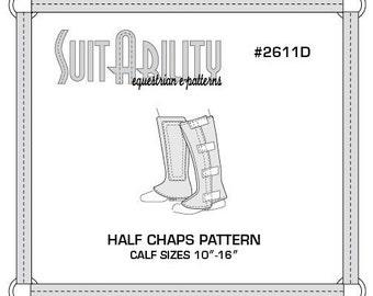 PDF Half Chaps Pattern