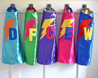 Customized Boys and Girls Superhero Capes, Kids Superhero Costume, Superhero Halloween Costume, Superhero Birthday Party Favor, Dress Up