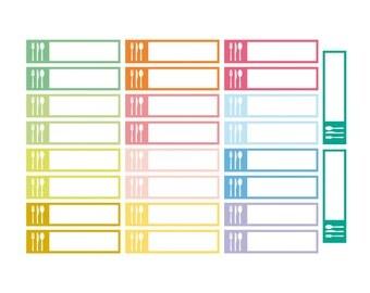 26 blank stickers, meal box stickers, blank label, planner stickers, scrapbook reminder eclp filofax happy planner kikkik bar stickers