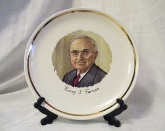 Vintage Harry S. Truman Decorative collectible plate