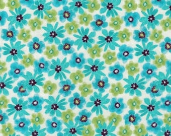 Mariposa Flowers- Turquoise- Windham Fabrics- 100% Cotton Fabric