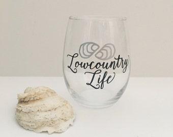 Lowcountry Life wine glass