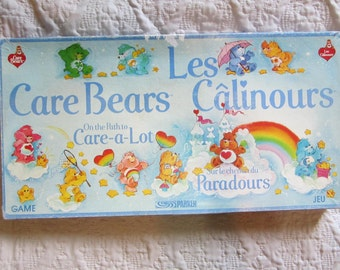 Vintage 1983 Parker Bros Care Bears Game Board Game Used Condition Missing two stands