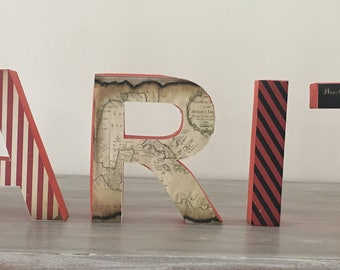 Pirate Themed 3D Letters