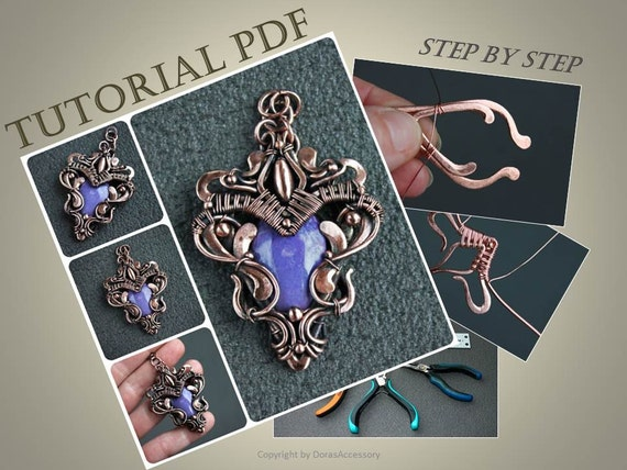 Tutorial wire wrapped pendant pdf wire wrap tutorial tutorial tutorial wire wrapped pendant pdf wire wrap tutorial tutorial wire wrapped jewelry wire tutorial wire wrapped workshop from dorasaccessory on etsy aloadofball Choice Image