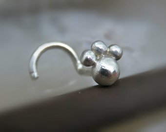 Nose Stud 18g - Sterling Silver Nose Stud // Nose Jewelry