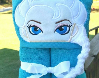 Ice Princess Hooded Towel with FREE Embroidered Name