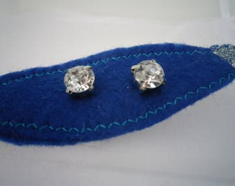 Large Austrian Crystal Earrings, Surgical Steel Posts, Jewelry, Fashion, Accessories