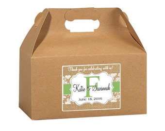 "4"" x 3""  Personalized Welcome Box Labels -  Wedding Welcome Bag Labels - Wedding Favor Labels - Welcome Stickers - Box Stickers"