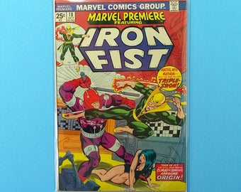 Iron Fist Comic Book; Marvel Premiere #18 (Grade Fine) 1973, Marvel Comics Iron Fist, B2