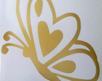 Decal of Butterfly with Heart