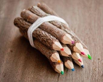 Wooden Colour Pencils set - Handmade
