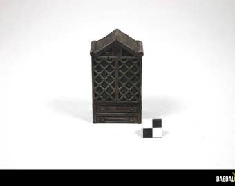 Miniature cabinet with 2 doors for quest mordheim, d & d, warhammer fantasy