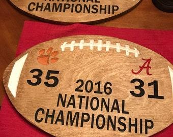 Custom National Championship Wood Sign