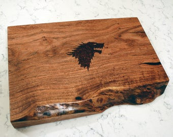 Personalized Live Edge Mesquite Cutting Board