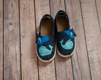 Hand Painted Whale Tiny Toms