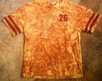 Rust dyed baseball shirt. 26